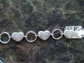 Silver-Diamond Bracelet 0.01 CT. 925 Silver 11.6g